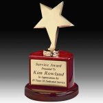 Star Trophy on Piano Finish Base Executive Gifts