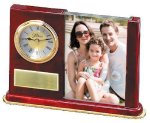 Wood and Glass Photo Clock Executive Gifts