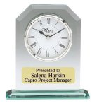 Glass Desk Clock Executive Gifts