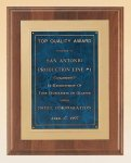 American Walnut Plaque with Gold Embossed Frame Executive Plaques