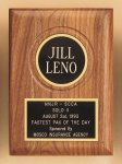 American Walnut Plaque with Routed Disk Area Executive Plaques