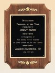 American Walnut Plaque with Decorative Accents Executive Plaques