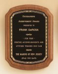 American Walnut Plaque with Braided Border Executive Plaques