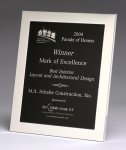 Polished Silver Aluminum Frame Plaque Executive Plaques
