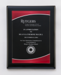 Black Piano Finish Plaque with Red Acrylic Plate Executive Plaques