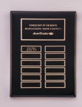 Black Piano-Finish Perpetual Plaque Executive Plaques