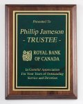 American Genuine Walnut Plaque with Satin Finish Executive Plaques