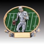3-D Action Resin Oval Football Football Trophies