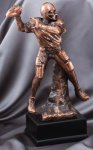 Elegant Series Sculpted Antique Bronze Football Resin Trophy  Football Trophy Awards