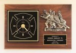 Fireman Award Clock with Antique Bronze Finish Casting. Gift Items