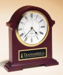 Napoleon Mantle Clock with Hand-rubbed Mahogany Finish Gift Items