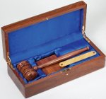 Gavel In Wood Box Walnut Gifts Personalized