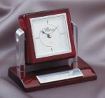 Tilting Rosewood Desk Clock Gifts Personalized
