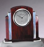 Rosewood  and Aluminum Clock Gifts Personalized