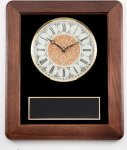 Walnut Wall Clock Plaque Gifts Personalized