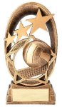 Radiant Series Resin Trophy -Volleyball Gold Series