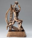 Ultra Action Resin Trophy -Basketball Male  Gold Series