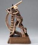 Ultra Action Resin Trophy -Baseball  Gold Series