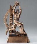 Ultra Action Resin Trophy -Basketball Female Gold Series