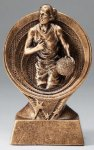 Basketball Resin Trophy, Female Gold Series