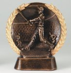 Resin Plate -Baseball Mini Male Gold Series