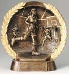 Resin Plate -Basketball Female Gold Series