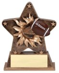 Star Burst Resin -Football Gold Series
