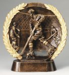 Resin Plate -Hockey Male Gold Series