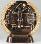 Resin Plate -Volleyball Male Gold Series