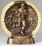 Resin Plate -Football Male Gold Series