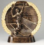 Resin Plate -Tennis Male Gold Series