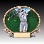 3-D Action Resin Oval Golf Female Golf