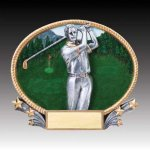 3-D Action Resin Oval Golf Male Golf