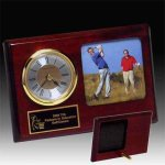 Photo Desk Clock Golf