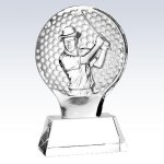 Male Golfer Champion  Award Golf Glass and Crystal Awards