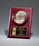 Cherry Finish Clock with Three-Hand Movement Golf Plaques