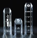 Hexagon Tower Acrylic Award Golf Trophies