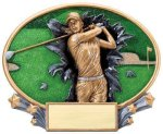 Motion X Oval -Golf Female Golf Trophies