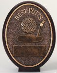 Best Putts Oval Golf Trophies