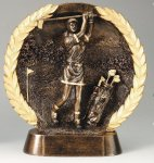 Resin Plate -Golf Female Golf Trophies