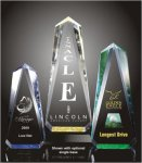 Faceted Obelisk Acrylic Award Golf Trophies