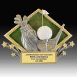 Golf Diamond Resin Golf Trophy Awards