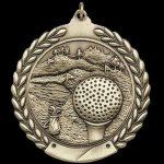 M Series Sculptured Medal Golf Golf Trophy Awards