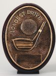 Longest Drive Oval Golf Trophy Awards