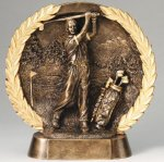 Resin Plate -Golf Male Golf Trophy Awards