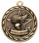 Physical Education 2 Round Sculptured Medal    High Relief Series Medals