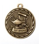 Most Improved Academic  2 Round Sculptured Medal     High Relief Series Medals