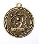 Science Fair 2 Round Sculptured Medal      High Relief Series Medals