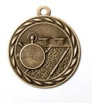 Swimming 2 Round Sculptured Medal    High Relief Series Medals