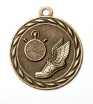 Track 2 Round Sculptured Medal      High Relief Series Medals